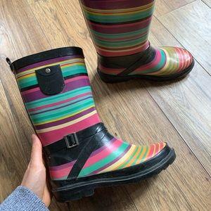 Other - girls size 3 rainbow rain boots